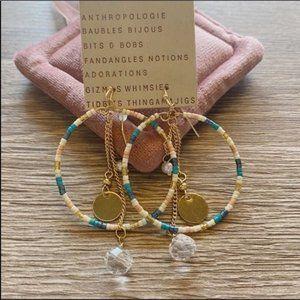 NWT Anthropologie Beads Tassels Earrings